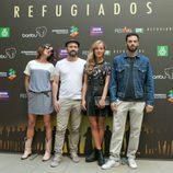 Natalia Tena, Will Keen, Charlotte Vega y David Leon de 'Refugiados'