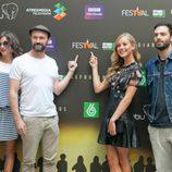 Los actores de 'Refugiados' en el FesTVal 2014