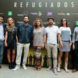 Reparto de 'Refugiados' en el FesTVal 2014