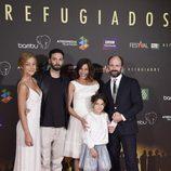Varios actores de 'Refugiados' en el FesTVal 2014