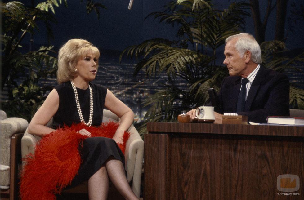 Joan Rivers y Johnny Carson