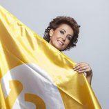 Irma Soriano luce la bandera de 13TV en su nueva temporada