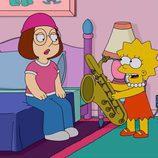 Lisa Simpson toca para Meg Griffin