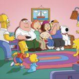 Cross over de 'Los Simpson' y 'Padre de familia'