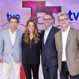 Pablo Carrasco, Toñi Moreno, Paco Díaz y Josep Ramón Lluch en la presentación de 'T con T'.