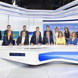 Foto de familia de los rostros de Informativos de TVE
