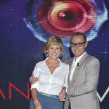 Mercedes Milá y Jordi González posan en la presentación de 'Gran hermano 15'