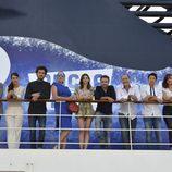 Los actores de 'Anclados' en un crucero en Valencia