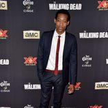 Tyler James Williams en el estreno de la 5º temporada de 'The Walking Dead'