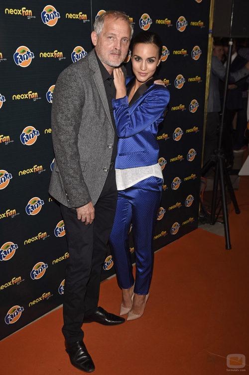Jordi Rebellón y Megan Montaner en los Neox Fan Awards 2014