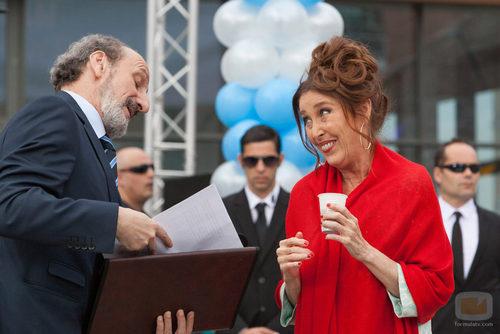 Verónica Forqué y José Luis Gil en la octava temporada de 'La que se avecina'