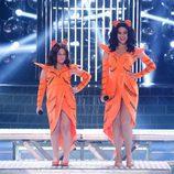 Roko y Carla en la gala 1 de 'Tu cara me suena mini'