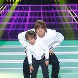 Miki Nadal y Fran en la gala 1 de 'Tu cara me suena mini'
