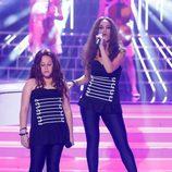 Roko y Carla en la gala 2 de 'Tu cara me suena mini'