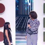 Xuso Jones y Abril en la gala 2 de 'Tu cara me suena mini'