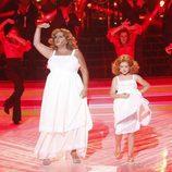 María del Monte y Nayra en la gala 5 'Tu cara me suena mini'