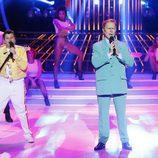 Santiago Segura y Unax en la gala 5 de 'Tu cara me suena mini'