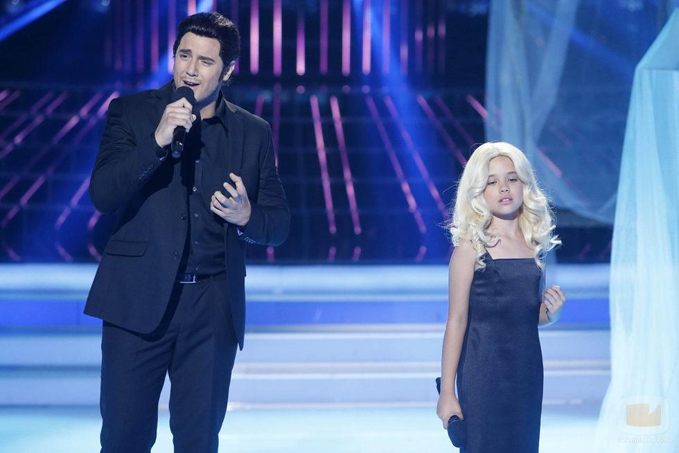 Daniel Diges y Julia en la gala 5 de 'Tu cara me suena mini'