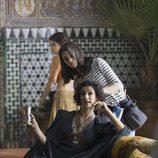 Indira Varma en el rodaje de la quinta temporada de 'Juego de tronos'