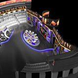 Vista aérea en 3D del plató de 'Un tiempo nuevo'