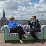 Celia Villalobos y Risto Mejide en 'Viajando con Chester'