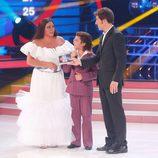 María del Monte y Samuel en la gala 6 de 'Tu cara me suena mini'.
