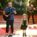 Pablo Carbonell y su hija Mafalda en la gala 6 de 'Tu cara me suena mini'