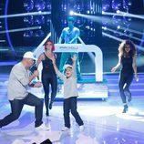 Miki Nadal y Fran en la gala 6 de 'Tu cara me suena mini'