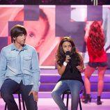 Xuso Jones y Abril en la gala 6 de 'Tu cara me suena mini'