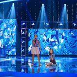 Eveyn Cabrera y Aina Méndez en 'Pequeños gigantes'