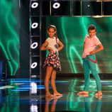 Andrea Olmedo y Javi Molina en 'Pequeños gigantes'