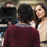 Natalia Millán en el rodaje de 'El Ministerio del Tiempo'