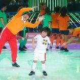 Miki Nadal y Fran en la gala 7 de 'Tu cara me suena mini'