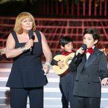 María del Monte y Samuel en la gala 7 de 'Tu cara me suena mini'