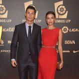 Cristiano Ronaldo y su novia Irina Shayk en los Premios LFP 2014