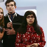 America Ferrera en 'Ugly Betty' con Michael Urie
