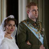 Fernando Gil y Cristina Brondo en el día de su boda en 'El rey'