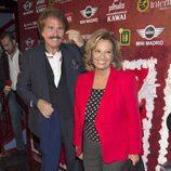 María Teresa Campos y Bigote Arrocet en el estreno de la obra de teatro 'Miguel de Molina al desnudo'
