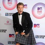 David Hasselhoff luce una falda escocesa en la alfombra roja de los MTV EMA 2014