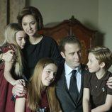 Juan Carlos con la Familia Real en 'El rey'