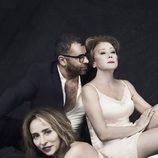 Jorge Javier Vázquez, Mila Ximénez y María Patiño en la 'Sálvame Fashion Week'
