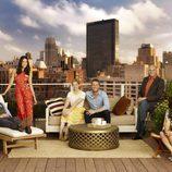 Foto grupal del reparto de 'Manhattan Love Story'