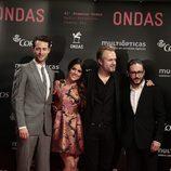 Peter Vives, Adriana Ugarte, Tristán Ulloa y Carlos Santos en los Premios Ondas 2014