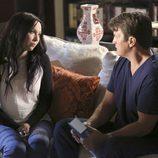 Richard y Alexis en la séptima temporada de 'Castle'