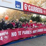 Ainhoa Arbizu y Manu Sánchez en la carrera