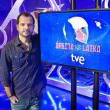 Ángel Martín en la presentación de 'Órbita Laika'