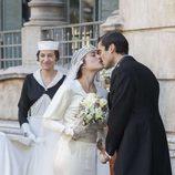 Foto de la boda de Adriana Ugarte y Alex García en 'Habitaciones cerradas'