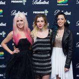 Sweet California en el photocall de los Premios 40 Principales 2014
