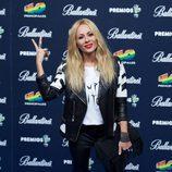 Marta Sánchez en el photocall de los Premios 40 Principales 2014