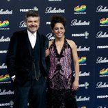 Nacho Guerreros y Cristina Medina Premios 40 principales 2014